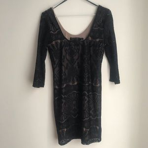 Lace black dress with lining from h&m